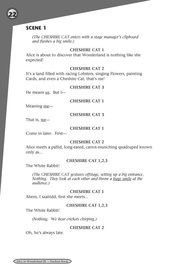 alice in wonderland scripts for school plays free