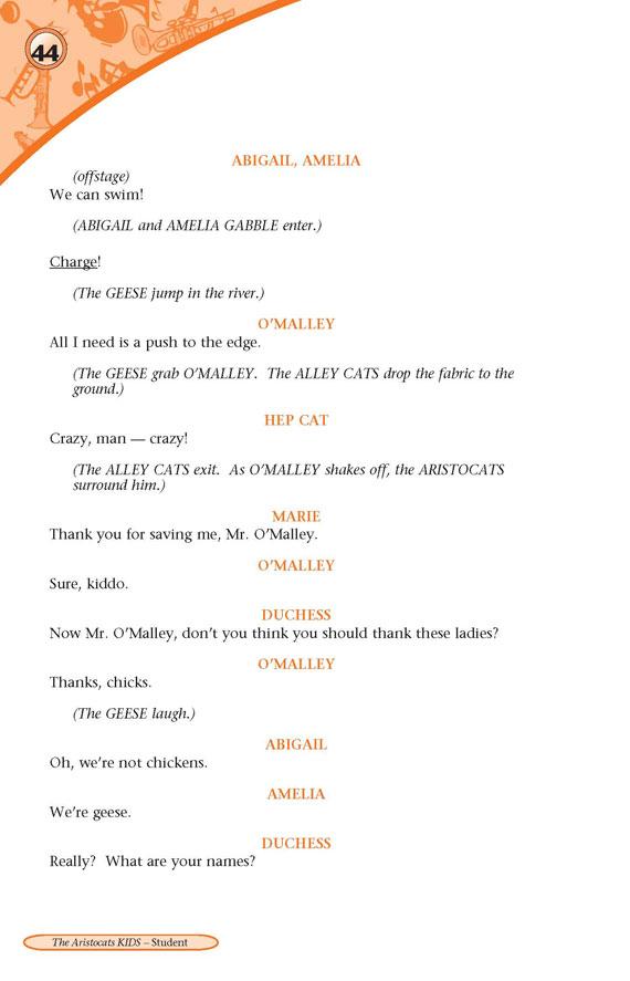 Aristocats Kids Play Script